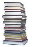 książki odizolowywali stertę Fotografia Stock
