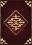 Książki pokrywa z złotą futrówką Zdjęcie Stock