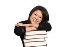 książki przewodzą odpoczynkowego nastolatka Zdjęcia Royalty Free