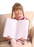książki pusty dziewczyny szczęścia przedstawienie Obraz Royalty Free
