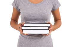 książki target154_1_ uczennicy młody Fotografia Stock