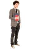 książki target853_1_ męskiego ucznia Fotografia Royalty Free