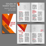 A4 książki układu projekta szablon Obraz Royalty Free