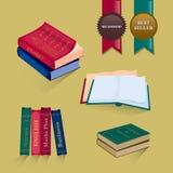 książki ustawiać również zwrócić corel ilustracji wektora Zdjęcia Royalty Free