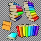 Książki w barwionych oprawach ilustracja wektor