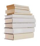 książki wypiętrzają biel Obrazy Royalty Free