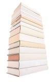 książki wypiętrzają biel Zdjęcia Royalty Free