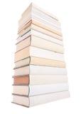 książki wypiętrzają biel Obraz Stock