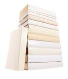 książki wypiętrzają biel Zdjęcie Royalty Free