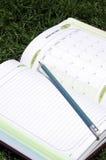Książki z ołówkiem. Obrazy Royalty Free