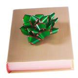 książkowa łęku złota zieleń zawijająca Obraz Royalty Free