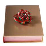 książkowa łęku złota zieleni czerwień zawijająca Zdjęcie Stock