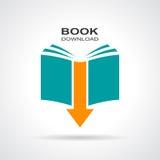 Książkowa ściąganie ikona ilustracji