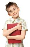 książkowa chłopiec Obraz Stock