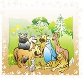 książkowa dżungla royalty ilustracja