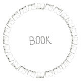 Książkowa doodle rama Fotografia Royalty Free