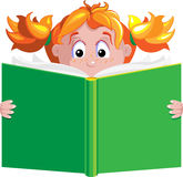 książkowa dziewczyna Zdjęcie Royalty Free
