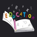 książkowa edukacja Obraz Stock