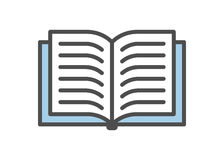 Książkowa ikona ilustracja wektor