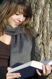 książkowa kobieta Zdjęcia Royalty Free