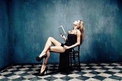 książkowa kobieta Zdjęcia Stock