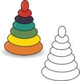 książkowa kolorowa kolorystyki grafiki ilustracja ostrosłup Zdjęcie Stock