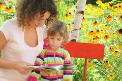 książkowa ogrodowa dziewczyna trochę czyta kobieta Obrazy Stock