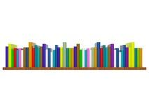 książkowa półka Zdjęcie Stock