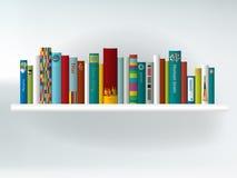 Książkowa półka pojęcia wnętrza odosobniony biel