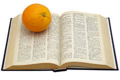 książkowa pomarańcze Obrazy Stock
