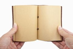 książkowa ręka odizolowywająca otwierającą Zdjęcie Stock