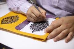 Książkowa segregator ręka ilustruje książkowe pokrywy obraz royalty free