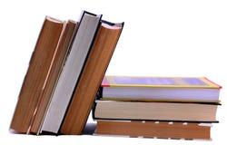 Książkowa sterta i trwanie up Zdjęcie Stock