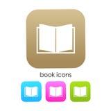 Książkowa wektorowa ikona Zdjęcia Royalty Free