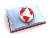 książkowa ziemia royalty ilustracja