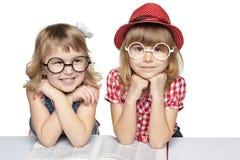 książkowe dziewczyny trochę dwa Zdjęcia Stock
