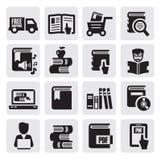 Książkowe ikony ilustracji
