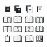 Książkowe ikony Obrazy Royalty Free