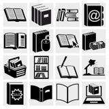 Książkowe ikony ustawiać. Obrazy Royalty Free