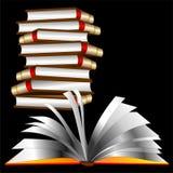 książkowe książki otwierający sterty wektor był ilustracja wektor