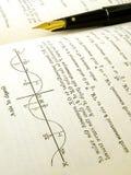 książkowe matematyki otwierają tekst Zdjęcie Royalty Free