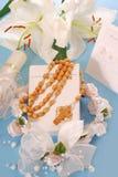 książkowego communion pierwszy święty modlitewny różaniec Obraz Stock