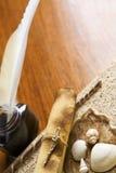 książkowego czasopisma stara pióra dutki ślimacznica Zdjęcie Royalty Free