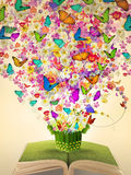 książkowego kwiatu otwarty obfitości rocznik Fotografia Royalty Free