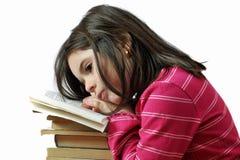 książkowej dziewczyny mały czytanie Obrazy Royalty Free