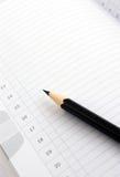 książkowej notatki ołówek Zdjęcia Stock