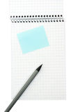 książkowej notatki ołówek Fotografia Stock