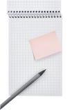 książkowej notatki ołówek Zdjęcie Royalty Free