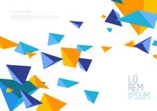 Książkowej pokrywy projekta szablon z abstrakcjonistycznymi poligonalnymi przedmiotami Obraz Royalty Free