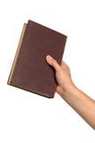 książkowej ręki mienia rocznik Obraz Royalty Free
